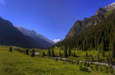 Kyrgyzstan Landscape Valley
