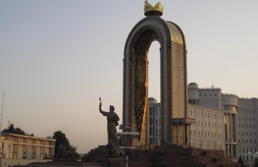 Ismail Samani square, Dushanbe city