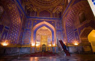 Tilyakori Mosque Registon Square Samarkand