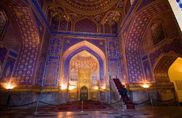 Tilyakori Mosque, Registon square, Samarkand